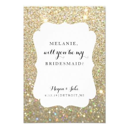 Will You Be My Bridesmaid Card - Wedding Day Fab - tap, personalize, buy right now!