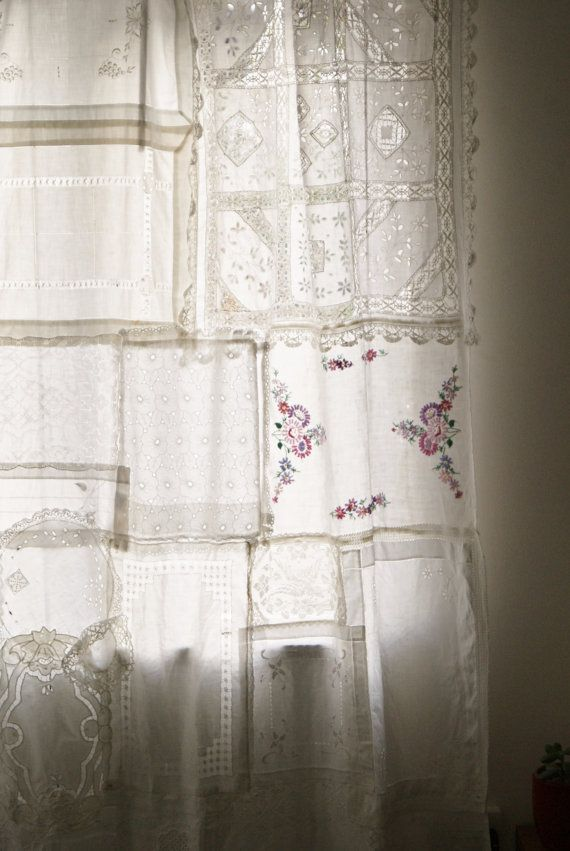 Vintage Lace Patchwork Gypsy Curtain