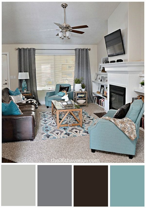 Home Decor Inspiration And Living Room Reveal At The36thavenue Wall Color Skin