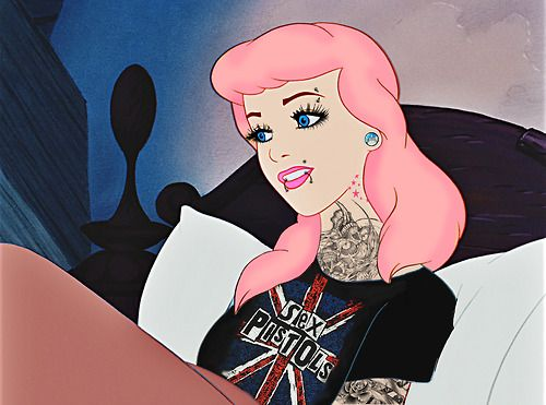 a punk cinderella, wonder if she would have taken her stepmother's dung
