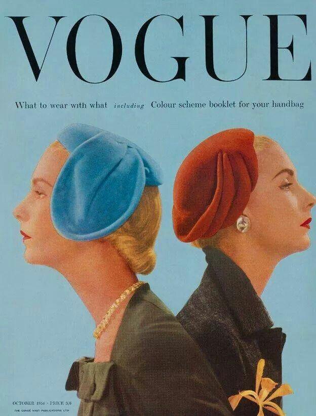 Vogue, October 1954, color schemes.