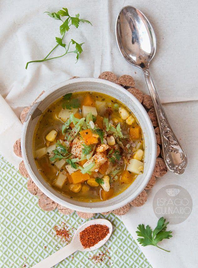 Carbonada en Espacio Culinario - Sopa típica de la #cocinachilena #chile…