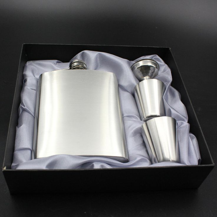 7 Ounce Portable Stainless Steel Flask Flagon Vodka Whiskey Wine Pot Bottle Funnel Cup Travel Tour outdoor Drinkware