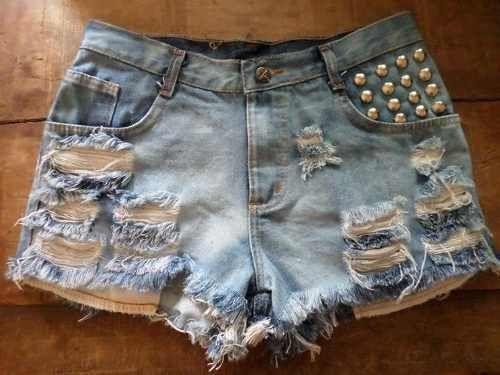 short jeans detalhe de tecido onça - Pesquisa Google
