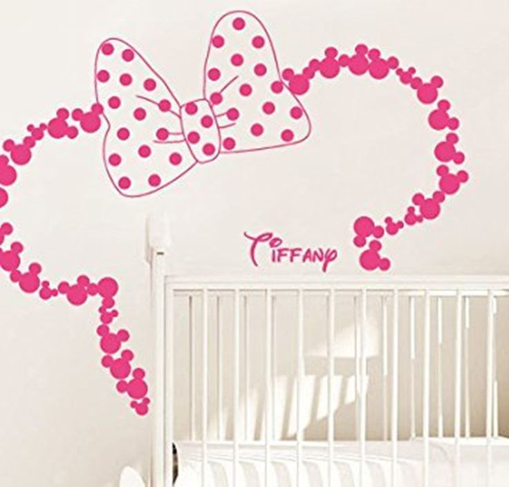 Customize Name Mickey Head Minnie Vinyl Wall Sticker Art Vinyl Home Decor  Mural Wall Stickers For Part 83