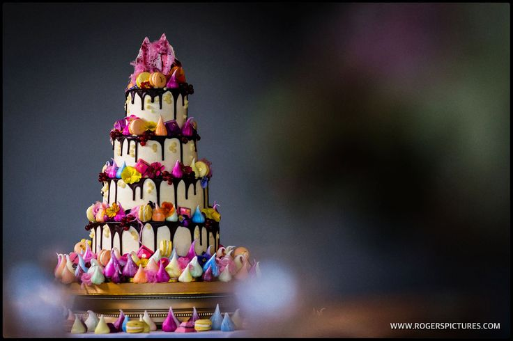 The most amazing cake creation by Fondant Fox at this Froyle Park wedding -