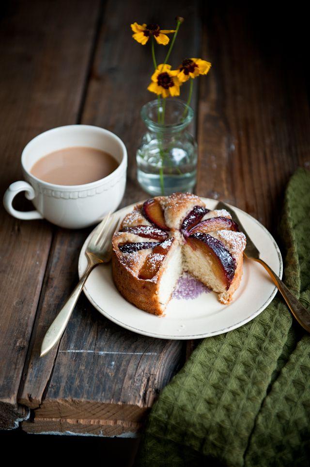 Plum, Rosemary, and Brandy Cake