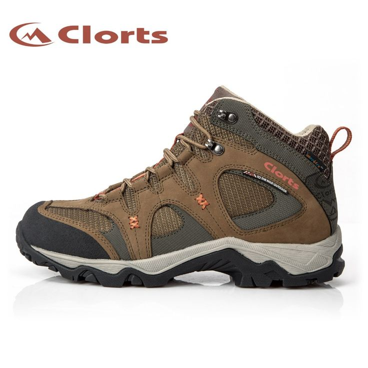 Clorts New Arrival Quality Nubuck Waterproof Hiking Boots Mid-cut Mountain  Outdoor Sneakers EVA Hiking
