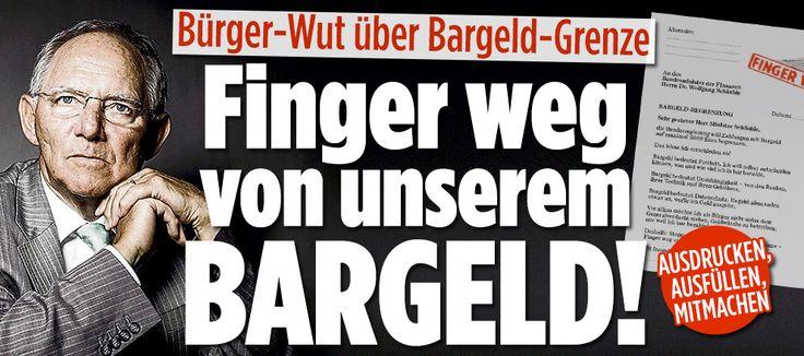 Streit um Bargeld-Grenze: Finger weg von unserem Bargeld! http://www.bild.de/politik/inland/bundesministerium-finanzen/finger-weg-von-unserem-bargeld-44469892.bild.html