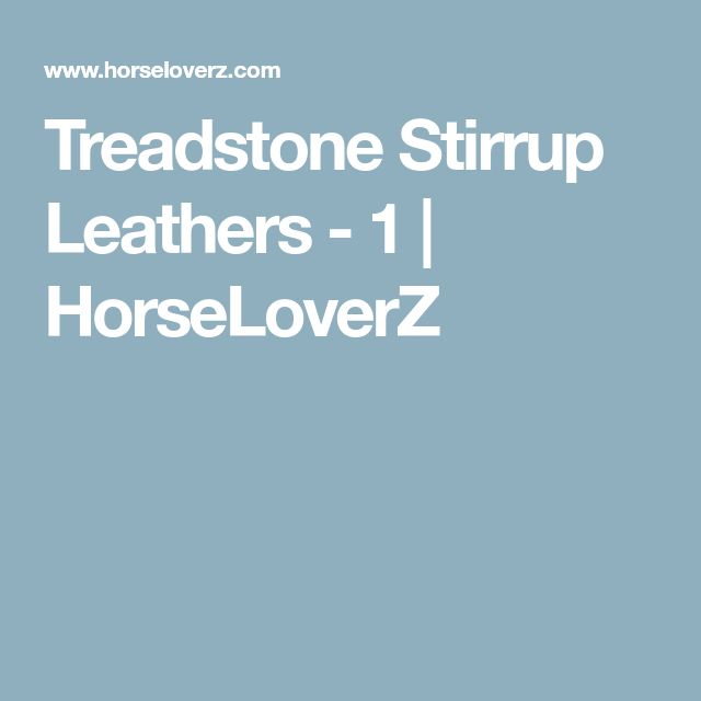 Treadstone Stirrup Leathers - 1 | HorseLoverZ