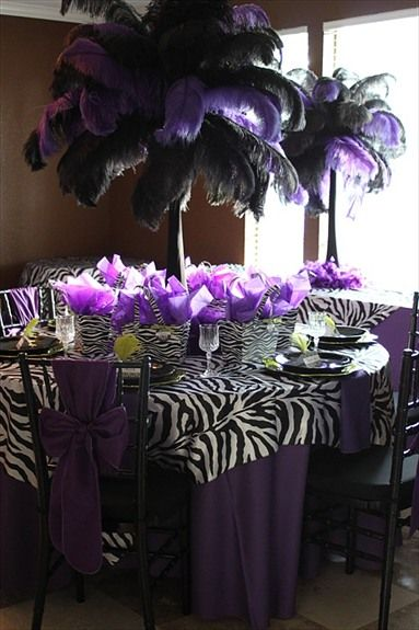 OMG!! zebra and purple -- So Diva!  image and design by http://fantasycelebrations.phanfare.com/4716255#imageID=109956647