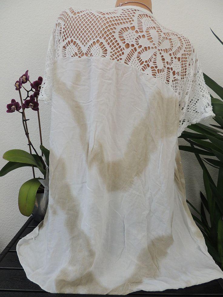 Lace Hollow Tie-dyed Patchwork Plus Size Blouse 3