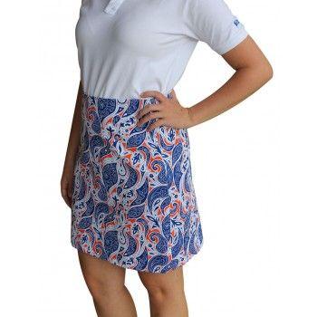 Women's Paisley Skirt Royal/Orange/White