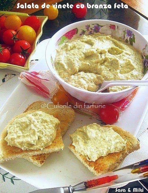 Salata de vinete cu branza feta ~ Culorile din farfurie