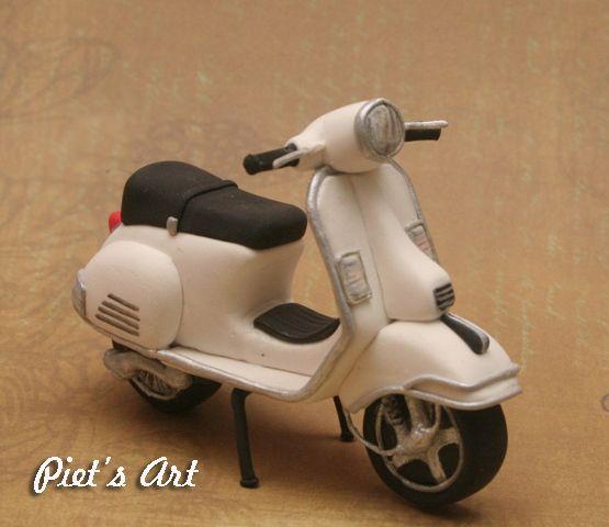 White Vespa-clay http://piets-art.com/blog/2013/09/vespa-clay/