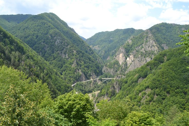 View from Poenari Fortress build by Vlad the Impaller http://www.touringromania.com/tours.html