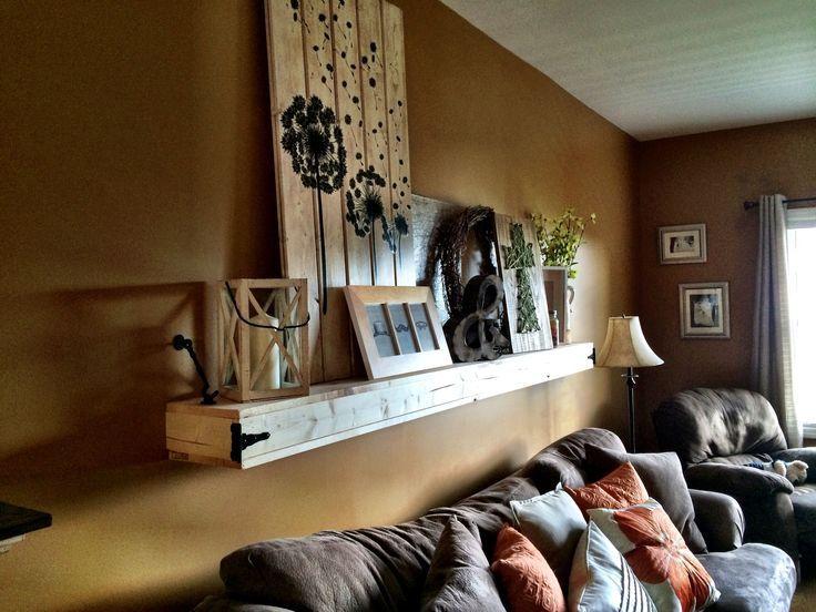 Floating shelf above couch #IkeaFloatingShelves #F…