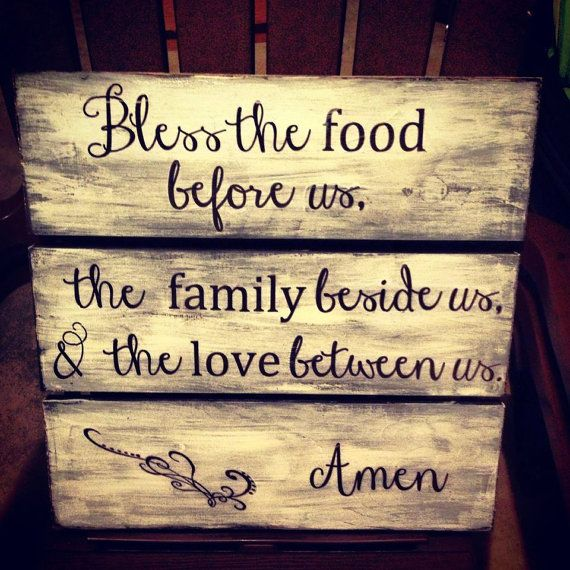 Custom Made Large Handmade Wooden Kitchen Dining Room Family Sign on Etsy, $35.00
