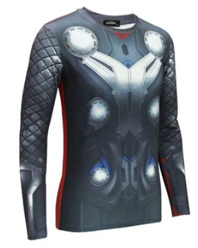 cool Thor T Shirt long sleeve superhero costumes for men