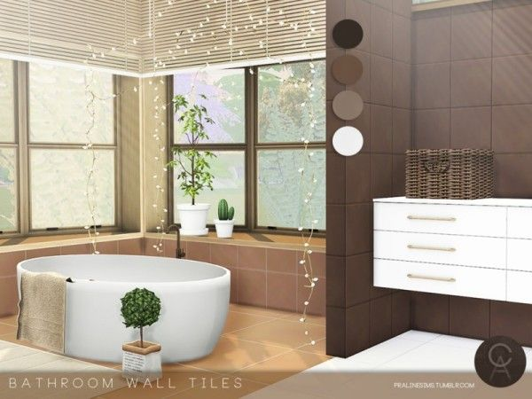 Bathroom Wall Tiles by Cross Architecture for The Sims 4 ...