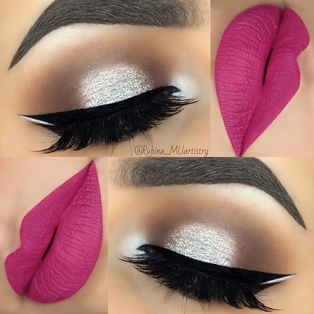 "WEBSTA @ rubina_muartistry - Helo smokey eye ✨ BROWS: @mellowcosmetics Brow Pomade in Mocha and set with Tinted Brow Gel in Dark Brown GelEYESHADOWS: #mellowcosmetics Treasure Chest PaletteGLITTER: @lycheexo Glitter in ""Silver"" on the LidEYELINER: @mellowcosmetics Black Gel EyelinerLASHES: @slaylashes Lashes in TOXICLIPS: @labelle_UK x @amadea_dashurie Liquid Lipstick in ""Neyra Doll""BRUSHES: @beaubellebrushes Professional Bronze Make-Up Brushes : :: #Glitter #slaylashes #labelle_UK #bea..."