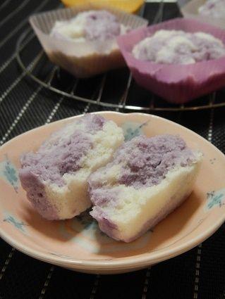 かるかん風・マーブル蒸しパン by あずさん   レシピブログ - 料理 ...