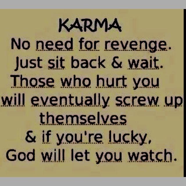 Karma And Revenge Quotes: #quote #karma #revenge