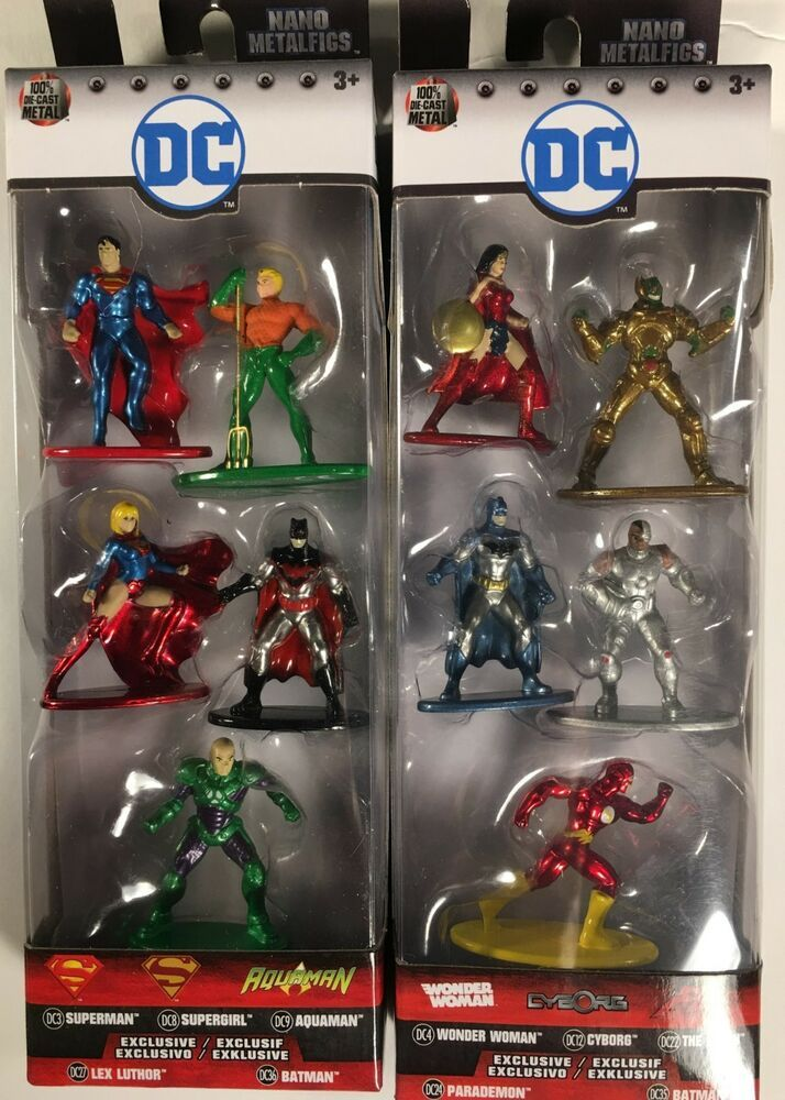 Nouveau DC Nano metalfigs 10 Figure Pack Wonder Woman Batman Superman Officiel
