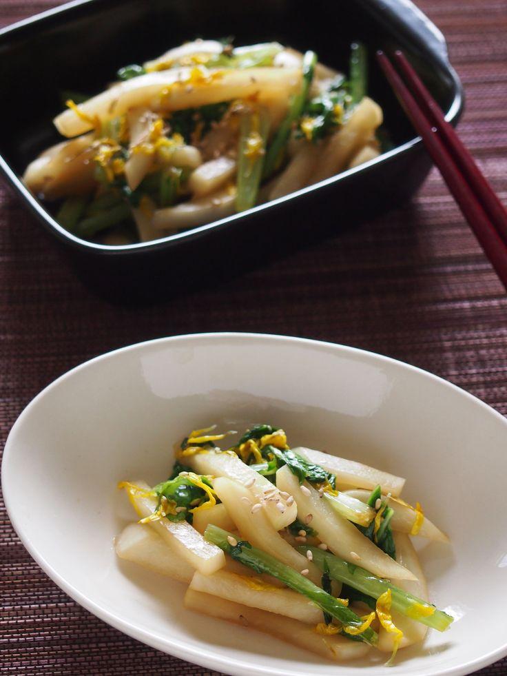 パパッとお手軽常備菜♪かぶの炒めナムル by 小澤 朋子 / さっと炒めて香ばしさと甘さを出したカブのナムルです。菊花、買うとつい余らせてしまいがちなので残っていたらこんな風にも使ってみて下さい。 / Nadia