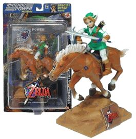 LINK w/Epona Horse JOYRIDE Figure Legend of Zelda - Ocarina of Time (Sub-Standard Packaging)
