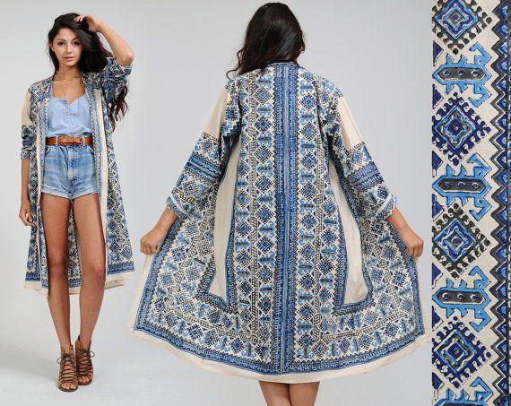 vintage 70s INDIA ETHNIC duster jacket coat by TinRoofVintage, $72.00