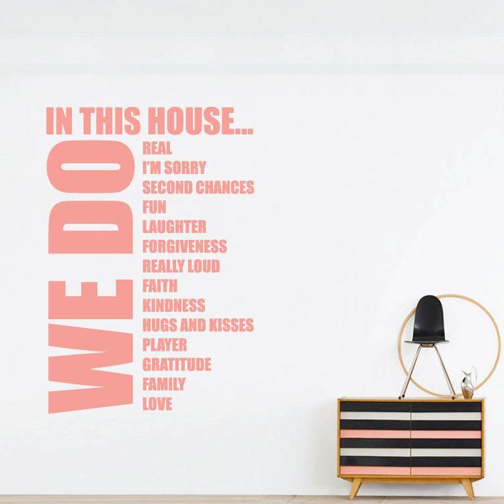In this house we do... Αυτοκόλλητο τοίχου Houseart