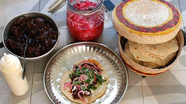 Beef chili tacos! Foto: Meny i P1
