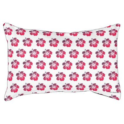 #Small Hibiscus Pattern Tropical Dog Bed - #flower gifts floral flowers diy