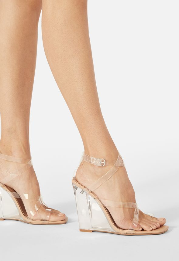 Neila Strappy Wedge In 2020 Strappy Wedges Faux Leather Heels Wedges