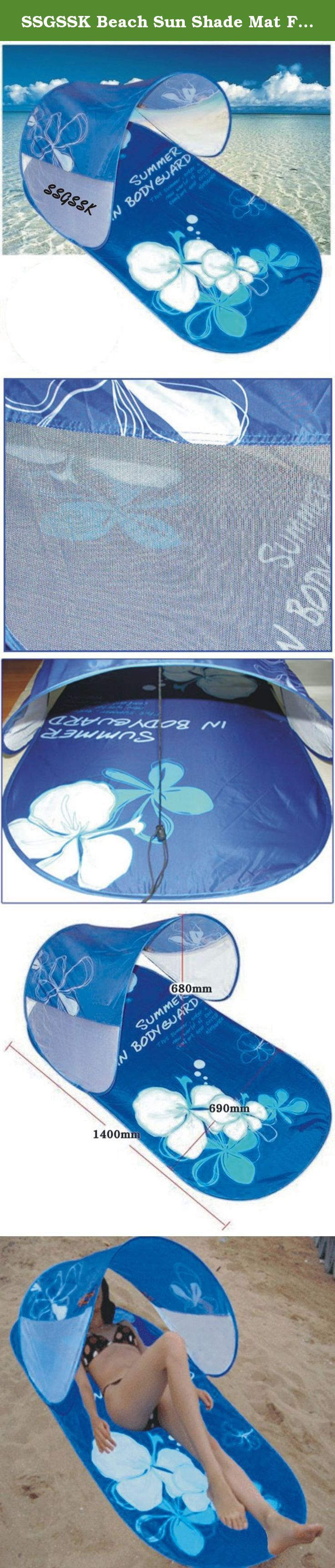 SSGSSK Beach Sun Shade Mat Foldable 1Person Pop Up Tent Camping Outdoor Sports. One-touch Portable Tent Excellent wind flow. The mesh on the side of the tent gives a cool breeze. Band is attached to the side of the tent. It is possible to adjust the angle of the popup tent. Protect your skin with ultraviolet light! Easy Fold-Up instructions on back of insert sheet on outside of bag. Camping, Fishing, Hiking, Swimming the essential items. One-touch Portable Sun Shade Beach Tent Size: 1400mm…