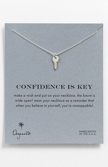 Dogeared 'Reminder - Confidence Is Key' Boxed Pendant Necklace | Nordstrom on Wanelo