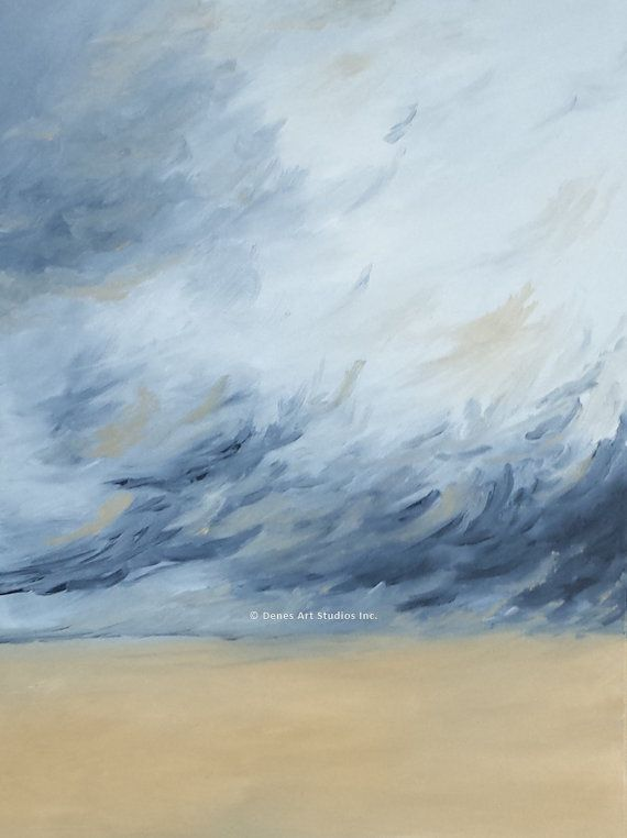 Original Abstract Oil Painting Sand Storms by SDenes
