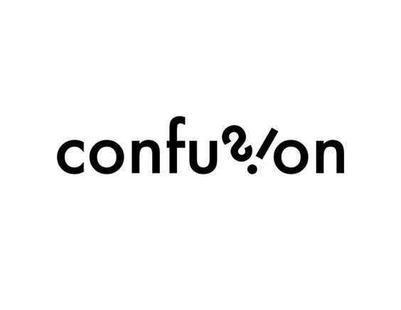 Typography - Word as Image - Confusion