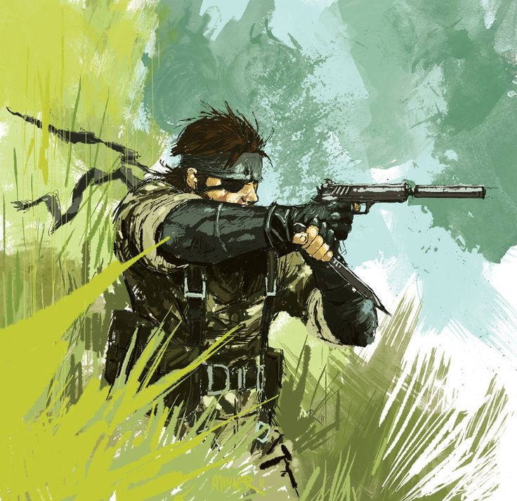This is Big Boss a.k.a. Naked Snake from MGS3, NOT Solid Snake -_-