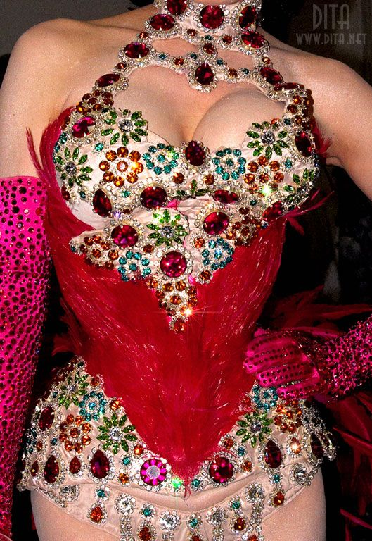 I'm desperate to see Dita's Bird of Paradise act - I think this could be my favourite costume!