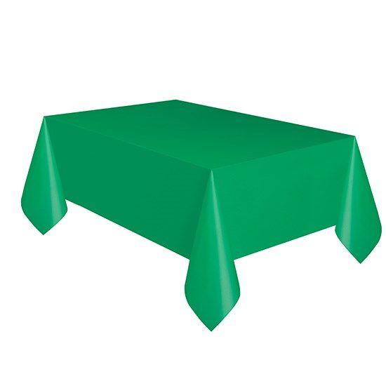 Smaragd Grøn Plastikdug 137 cm. x 274 cm. - Single