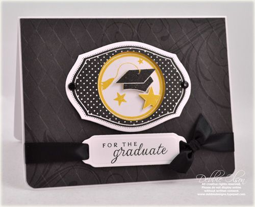 nice grad card by Debbie Olson with PTI For the Graduate set