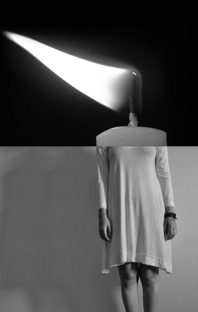 Brasilian photographer Luciana Urtiga does black and white selfportraits by associating surrealistic symbols