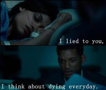 Seven pounds. One of the most beautiful and complex movies I've ever seen.