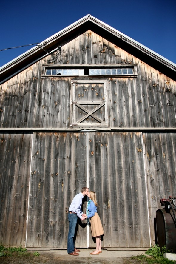 Rustic Fall Farm Engagement Session