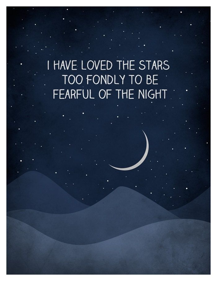 I have loved the stars too fondly quote art print, Universe Print, Astronomy Art Print, Inspirational Moon and stars. $18.00, via Etsy. | See more about quote art, art prints and star quotes.