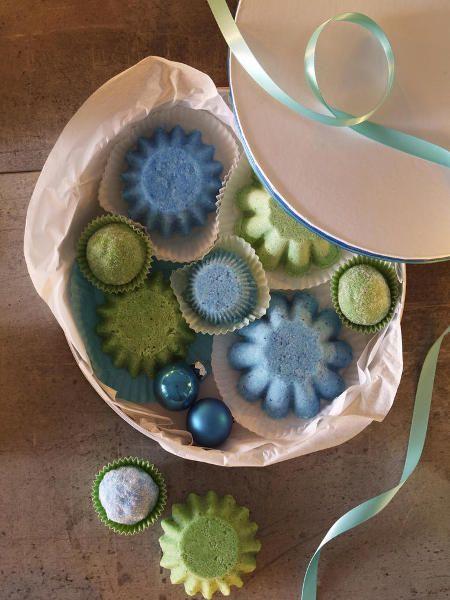 Kreative-Geschenkideen-selbermachen: Badepralinen DIY