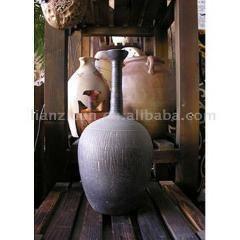 ハンドメイド 陶製の花瓶