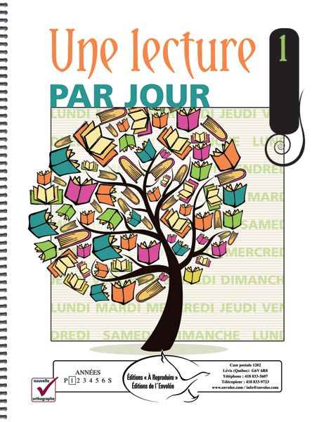 Une lecture par jour 1 - Éditions de l'Envolée